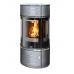 Камин-печь Atrium 6 (серая сталь, тальк с верхней плитой)