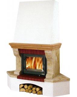 Камин с облицовкой Oxford Klasik, угловой, с теплообменником