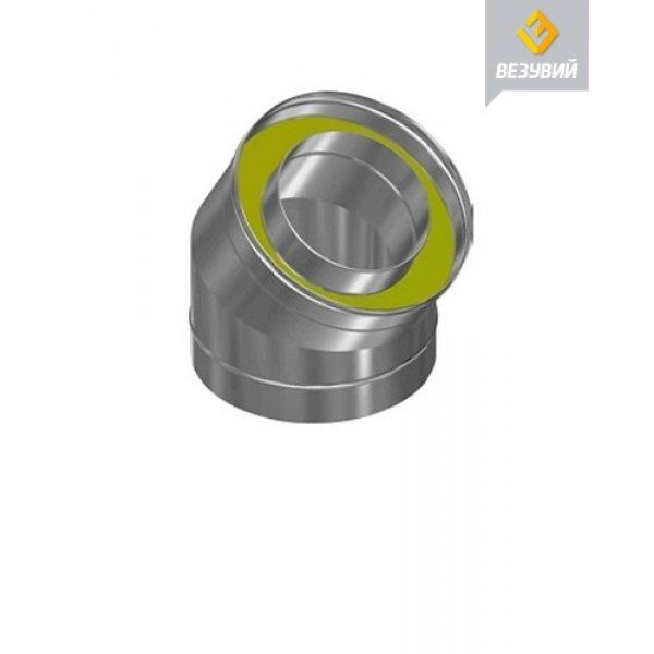 Сэндвич-колено Нерж+Нерж (AISI 430/0,8мм) 45* 2 секции д.115х180