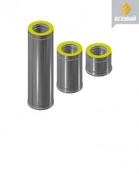Сэндвич-труба Нерж+Нерж (AISI 430/0,8мм) д.115х180, L-1м