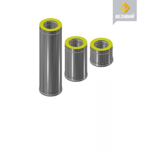 Сэндвич-труба Нерж+Нерж (AISI 430/0,8мм) д.120х200, L-0,5м