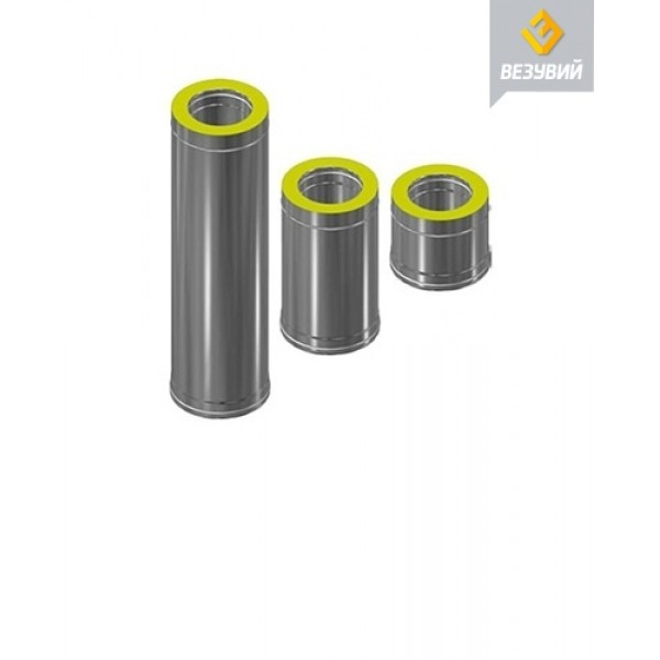 Сэндвич-труба Нерж+Нерж (AISI 430/0,8мм) д.130х220, L-1м