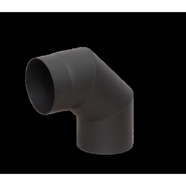 Отвод LAVA черный 90°, сталь 2 мм, ?150мм