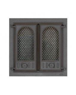 402 SVT каминная дверца со стеклом(двухстворчатая) (410х410)