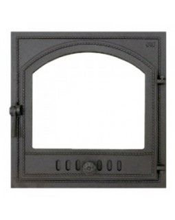 405 SVT каминная дверца со стеклом(одностворчатая) (410х410)