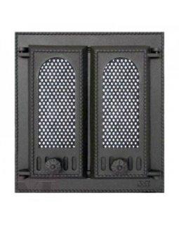 409 SVT каминная дверца со стеклом(двустворчатая) (310х275)