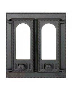 408 SVT каминная дверца со стеклом(двустворчатая) (310х275)