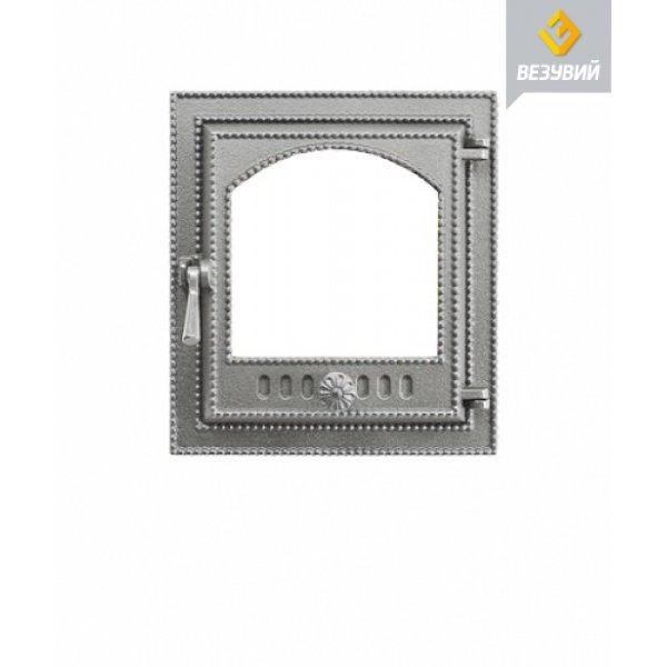 Дверка ВЕЗУВИЙ каминная 210 (не крашенная. без стекла)