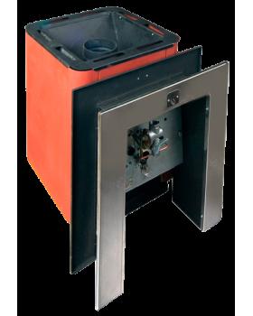 Банная печь КОНВЕКТИКА Колибри 9 У терракота (с газовой горелкой +портал)