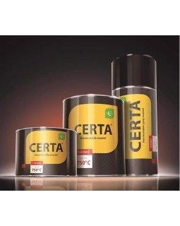 Краска термостойкая аэрозоль Черная (до 750°С, 520 мл) CERTA