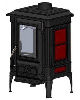 Печь-камин Гуча Arina-1110 Dark Red (Арина)