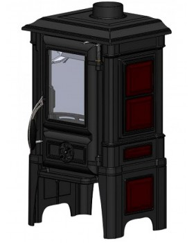 Печь-камин Гуча Arina-1210 Dark Red (Арина)
