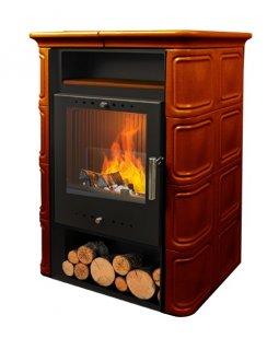 Печь-камин VERA BROWN 6 кВт (коричневая)